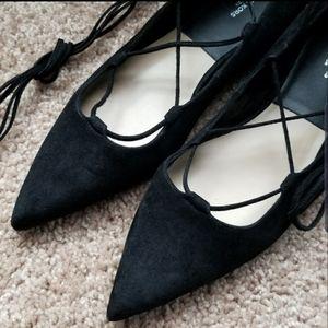 NWOT Michael Kors lace up flats